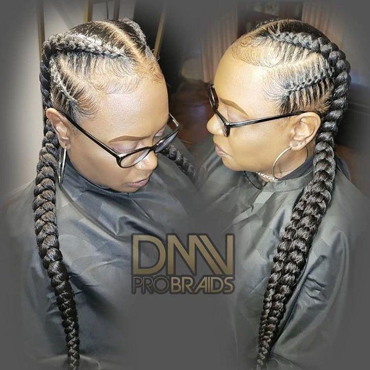 goddess braids two, box braids, short w/ ponytail, updos. how to do goddess braids. Wearing cute glasses.