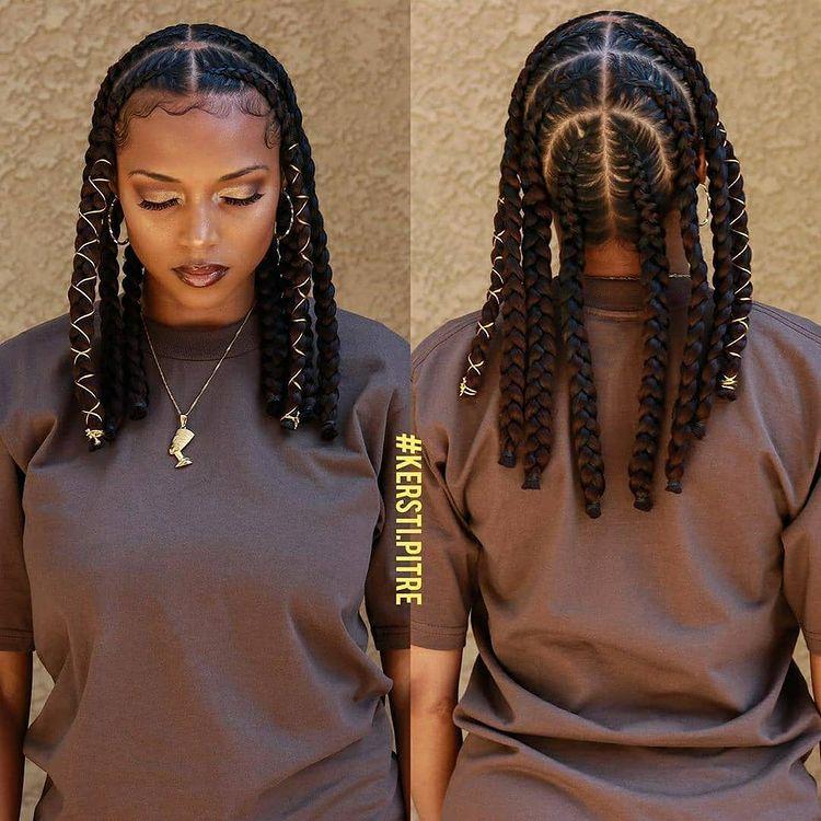 goddess braids egyptian styla - two, box braids, short w/ ponytail, updos. how to do goddess braids.