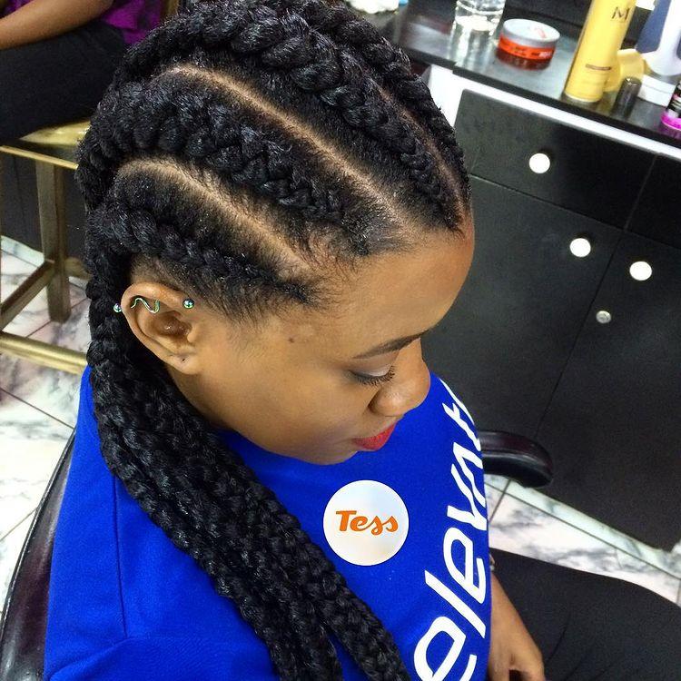 goddess braids two, box braids, short w/ ponytail, updos. how to do goddess braids. Wear cute blue shirt.