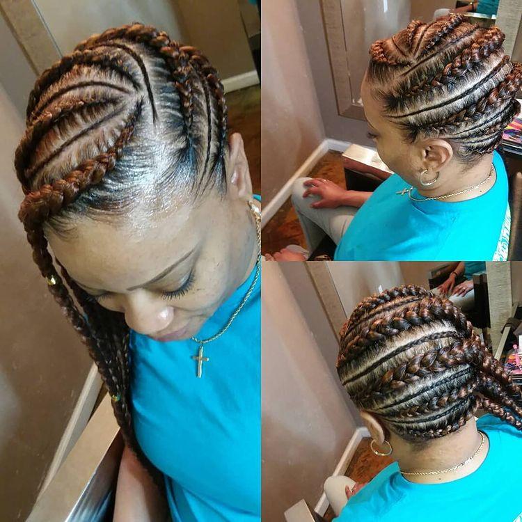 goddess braids two, box braids, short w/ ponytail, updos. how to do goddess braids. Side braids are dope.