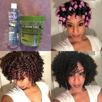 perm rod set on natural hair hairstyles pictures Flexi rod curlers black woman