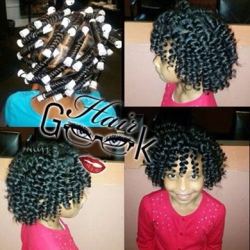 perm rod set on natural hair hairstyles pictures Flexi rod curlers black