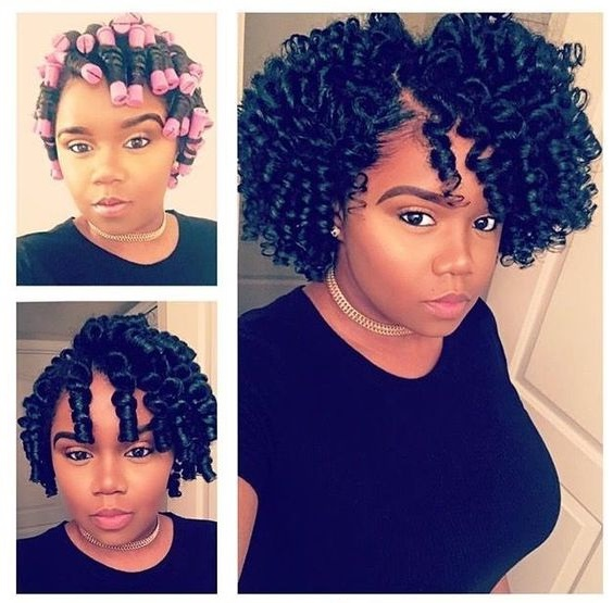 perm rod set on natural hair hairstyles pictures Flexi rod curlers black women curly