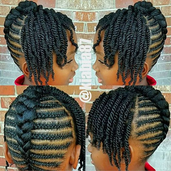 Click to SEE MORE protective styles for natural hair braids latest faux locs & easy black hairstyles. With weave on medium length to short hair, simple transitioning hairstyles growth, SEE women...