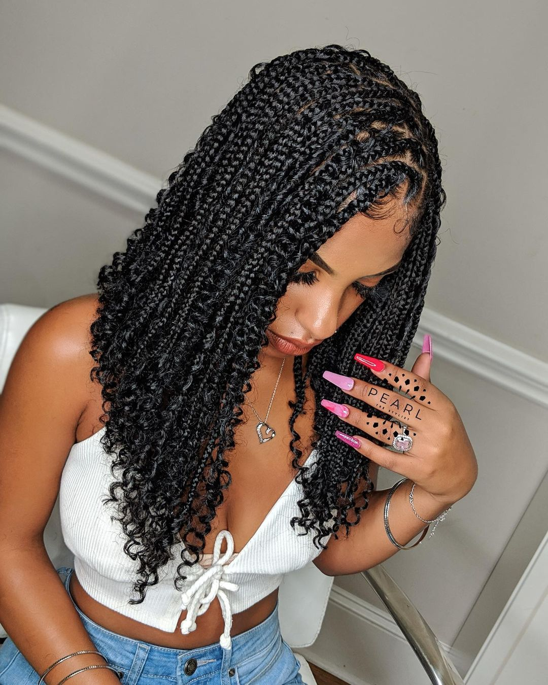 braided hairstyles NHP Approved curly extensions