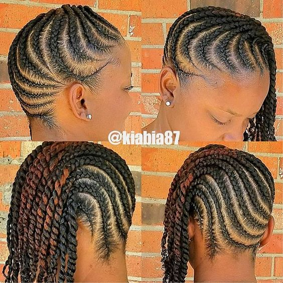 braided hairstyles for black women The shorter layered twists look great, it's a perfect example of modern easy protective hairstyles. Super cute and you can...