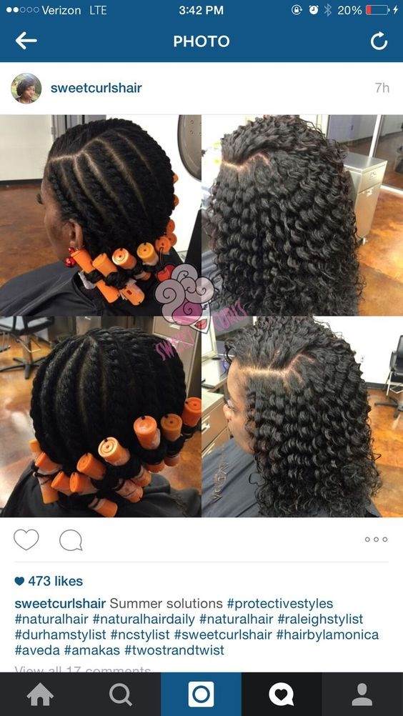perm rod set on natural hair hairstyles pictures Flexi rod curlers black instagram cute