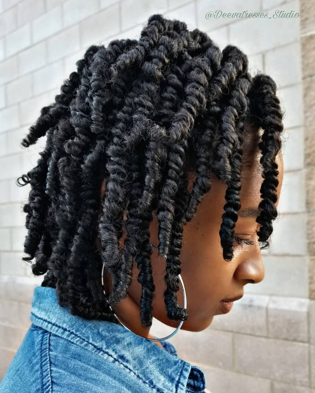 Black hairstyle protective twist braids for hair growth