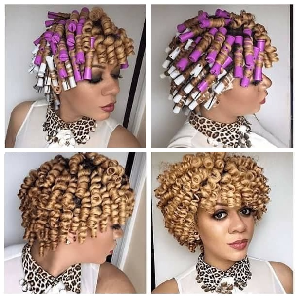 perm rod set on natural hair hairstyles pictures Flexi rod curlers black blonde kinky curly