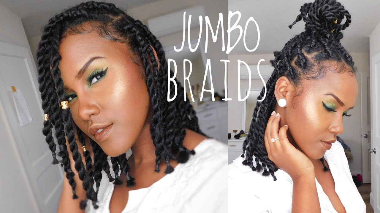 Senegalese Jumbo twist are HOT! I love how she put her short Senegalese twist braids on her widow's peak, this style was done very professionally. Look at the touch...