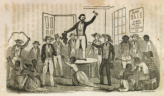 Black African Slaves on auction