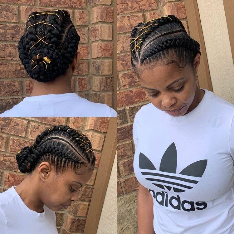 Collage goddess braids two, box braids, short w/ ponytail, updos. how to do goddess braids.