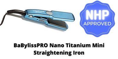 Babyliss flat iron BaBylissPRO Nano Titanium Ultra-Thin Straightening Iron Flat Iron NHP Approved