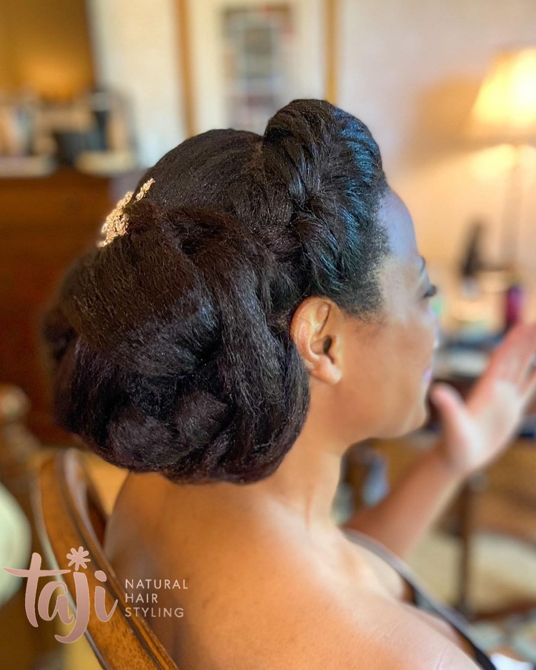 Black hairstyles for African-American brides