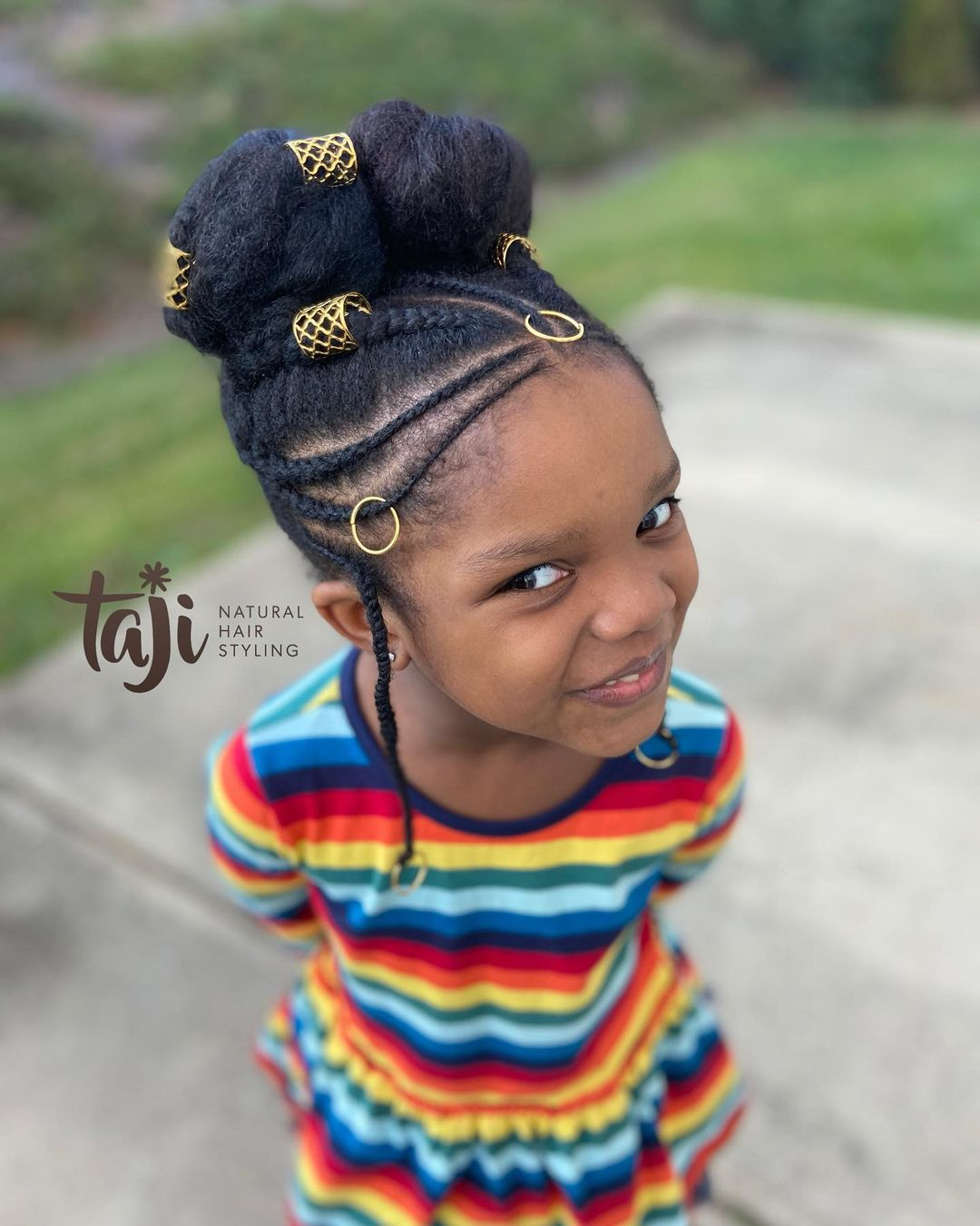 black hairstyles for kids updo braids