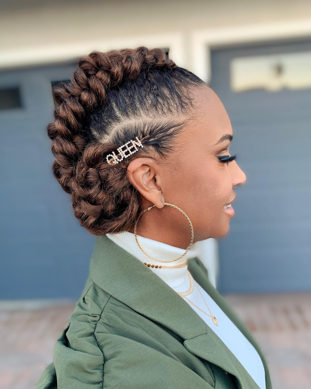 Black hairstyles for a wedding bridal