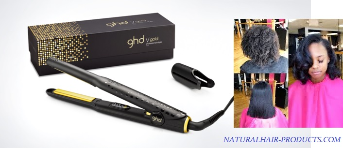 flat-iron-with-built-in-comb straightening GHD Flat iron for black natural hair type 4c