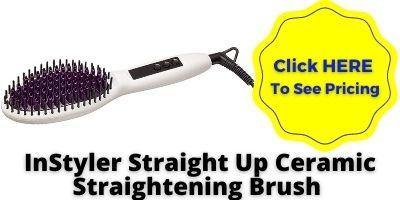 Hair straightening brush reviews InStyler Straight Up Ceramic Straightening Hair Brush NHP Approved