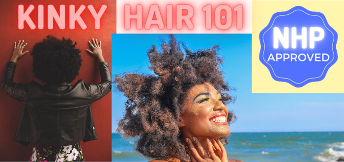 Kinky hair Black Woman NHP