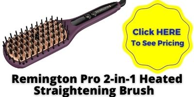 Remington Pro 2-in-1 Heated hair Straightening Brush NHP approved