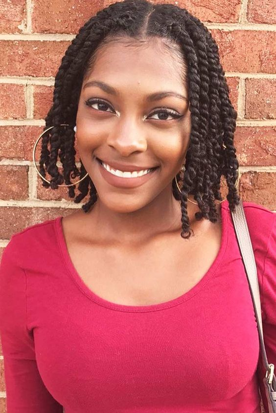 35 Short Senegalese Twist Braids Crochet Hairstyle Ideas