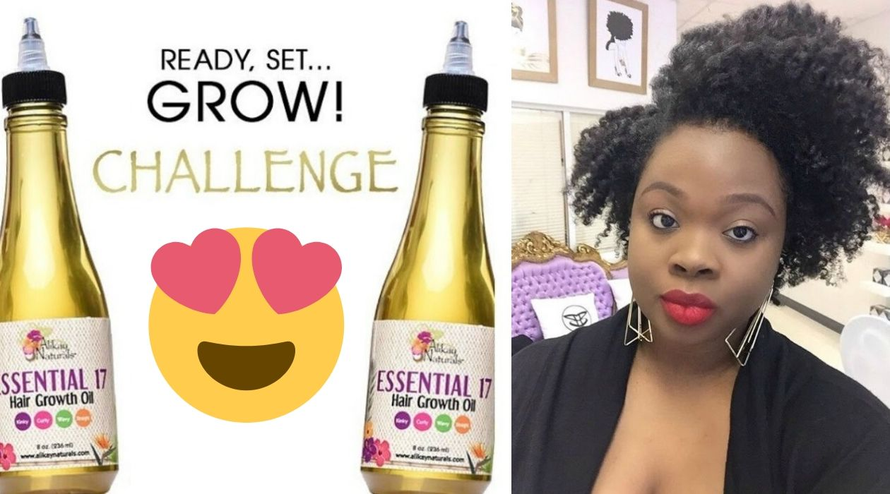 Alikay Naturals growth oil reviews - essential 17 growth challenge