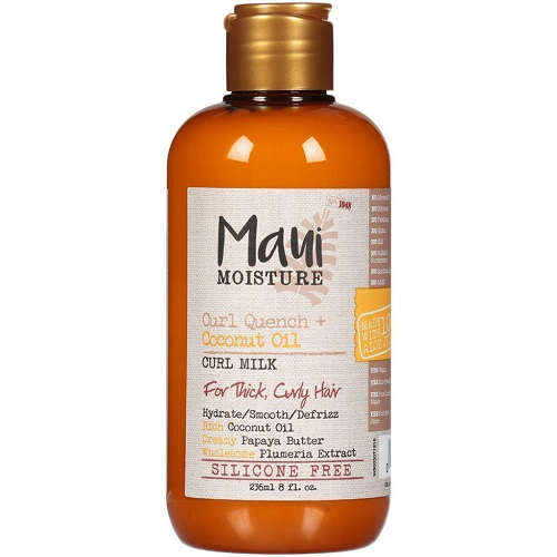 Best curly hair products Maui Moisture Curl Quench + Coconut Oil Curl Milk