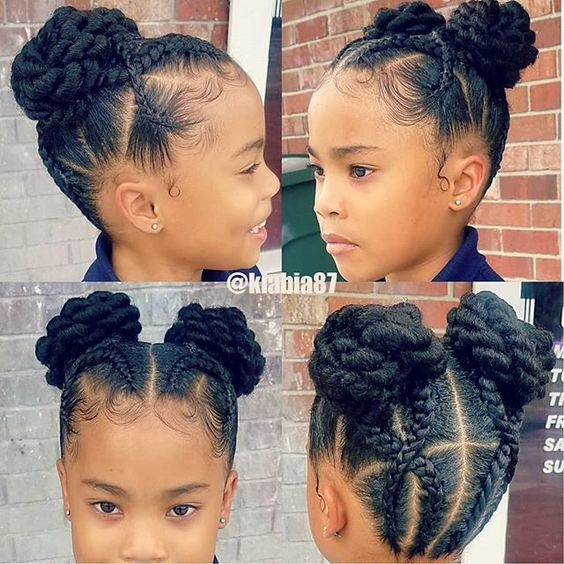cute and neat black braid hairstyles for girls kids, updos for black braided hair , box braids hairstyles