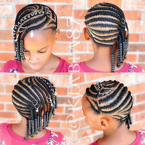 black braided hairstyles for girls kids school protective styles