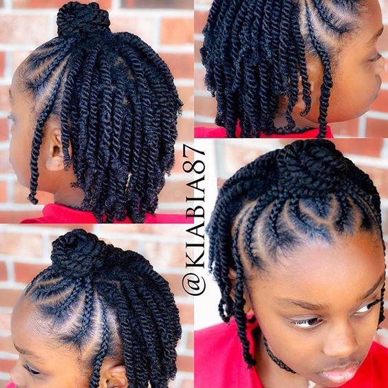 cute black braided hairstyles for girls kids