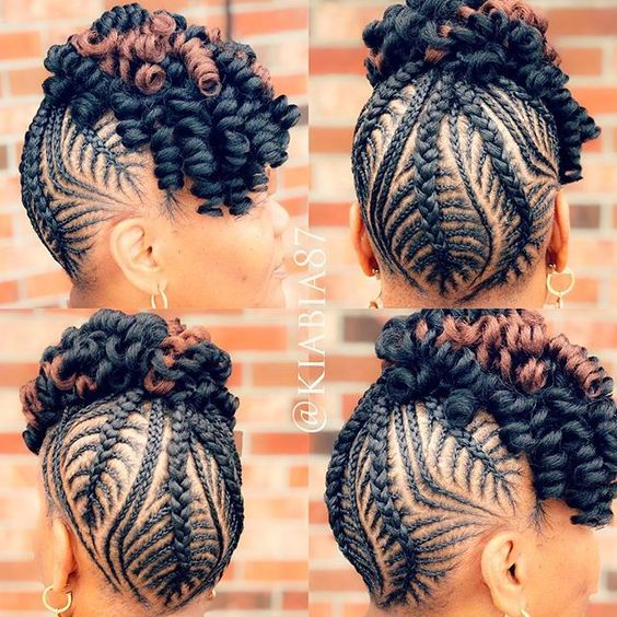 Braid Hairstyles for Black Women.See updos on long length to long 3C hair, simple styles no weave edges, also grab.