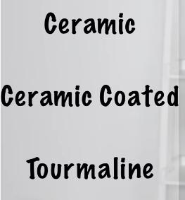 ceramic flat iron plate types
