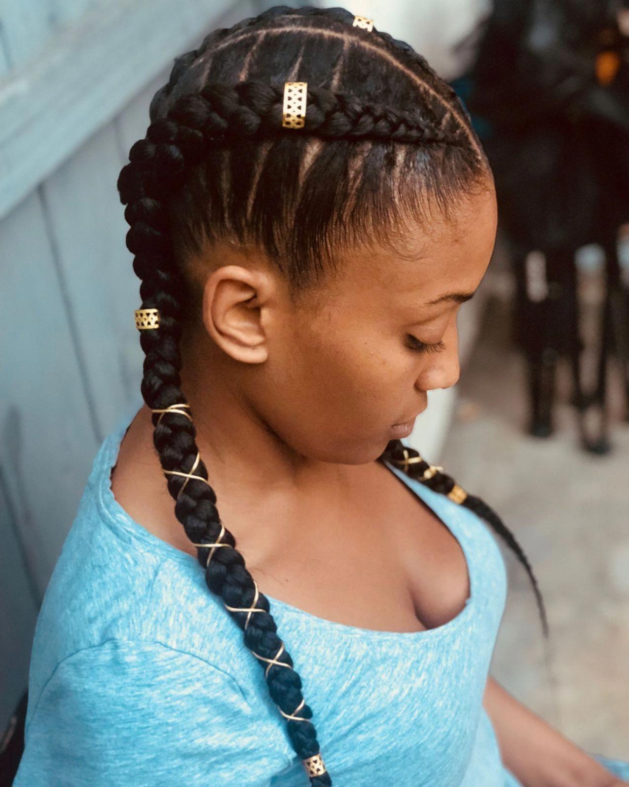 double 2 goddess braids