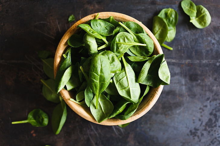 food for hair growth spinach #3