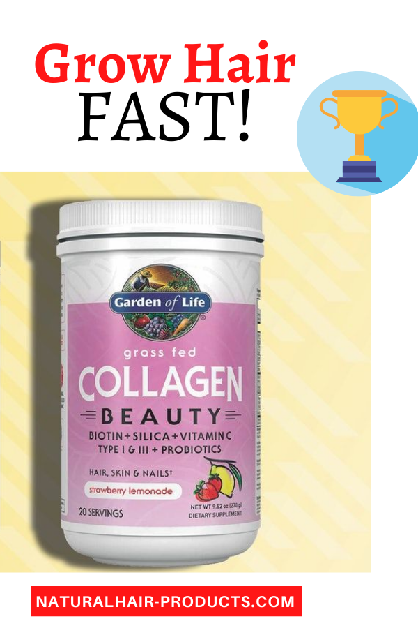 Hair growth vitamins with biotin and collagen