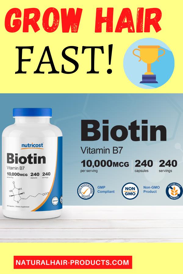 Nutricost Biotin B7 Hair Growth Vitamins