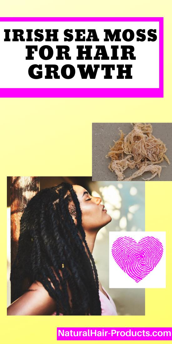 Irish Sea Moss for Hair Growth - 4c hair Black woman with long braids.
