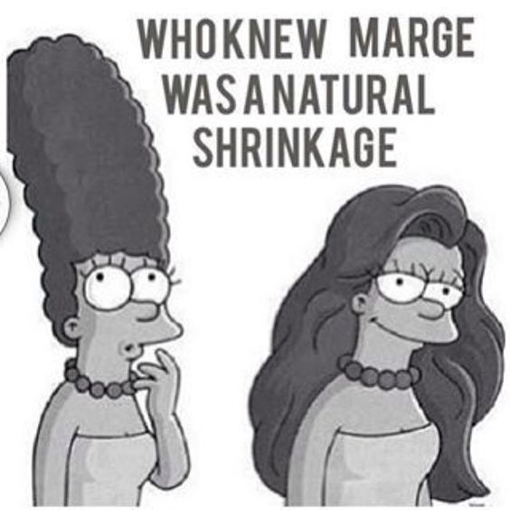 natural hair shrinkage meme. Marge Simpson black girl meme. Black hair memes, straightening hair memes, natural hair struggle memes sayings