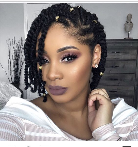 Click to SEE MORE protective styles for natural hair braids latest & easy hairstyles for black women. Crochet on medium length to short hair, simple transitioning hairstyles growth, also see our...