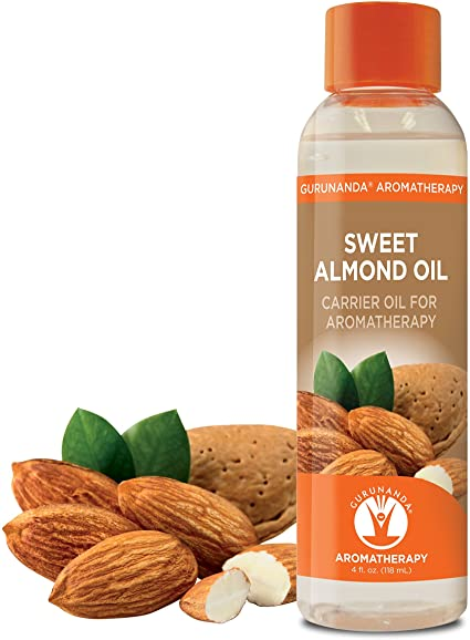 Hair growth oil for black women. Sweet Almond Oil.