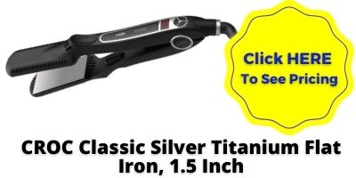 Titanium Flat Iron CROC Classic Silver NHP Approved