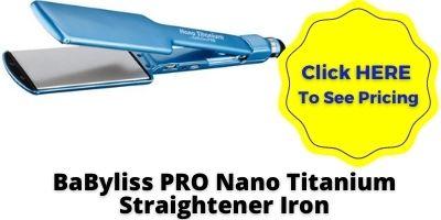 Titanium Flat Iron BaByliss PRO Nano Titanium Straightener Iron NHP Approved