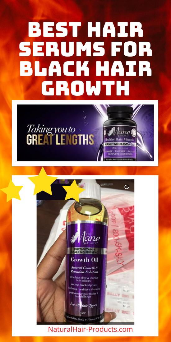 hair growth serum for Black hair the mane choice oil