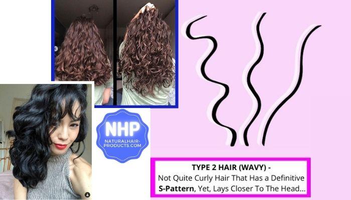 type 2 Hair natural wavy hair