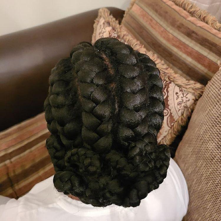goddess braids two, box braids, short w/ ponytail, updos. how to do goddess braids.