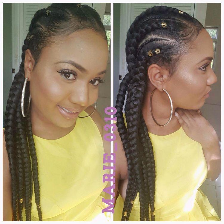 goddess braids. pretty black woman.