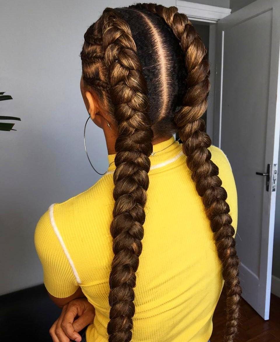 goddess braids feed-In braids - stitch braids