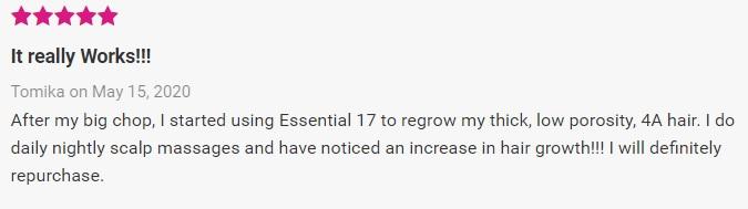 Alikay Naturals Essential 17 Hair Growth Oil for black women Natural emu oil reviews