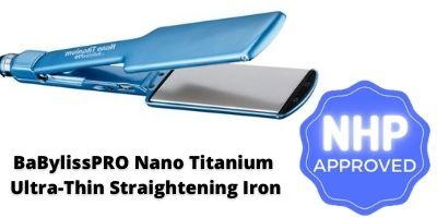 Babyliss flat iron BaBylissPRO Nano Titanium Ultra-Thin Straightening Flat Iron nhp