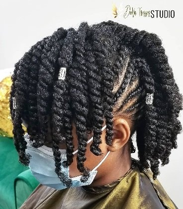 black hairstyles for kids combo mohawk
